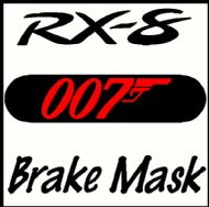 MAZDA RX-8 007 JAMES BOND BRAKE MASK DECAL